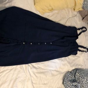 WILFRED LONG DRESS NAVY BLUE